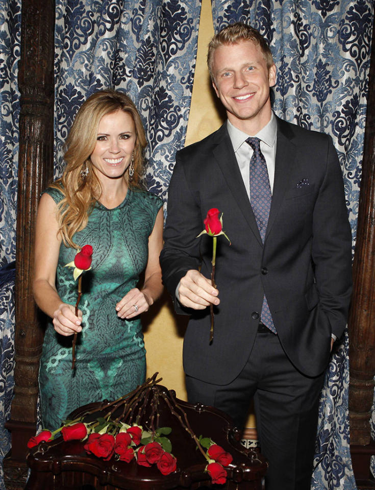 "Former Bachelorette Trista Rehn Sutter and current Bachelor Sean Lowe welcomed guests to Warner Bros.? Winter TCA party celebrating 25 seasons of ""The Bachelor"" franchise at ""The Bachelor"" mansion in Agoura Hills, Calif. on Friday, January 11, 2013."