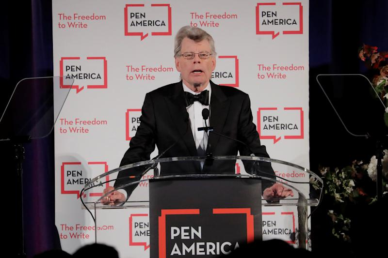 Author and honoree Stephen King at the PEN America Literary Gala in New York, U.S., May 22, 2018. REUTERS/Lucas Jackson