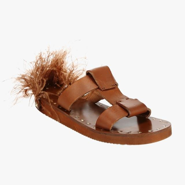 Valentino Garavani leather slide sandals, $775, saks.com
