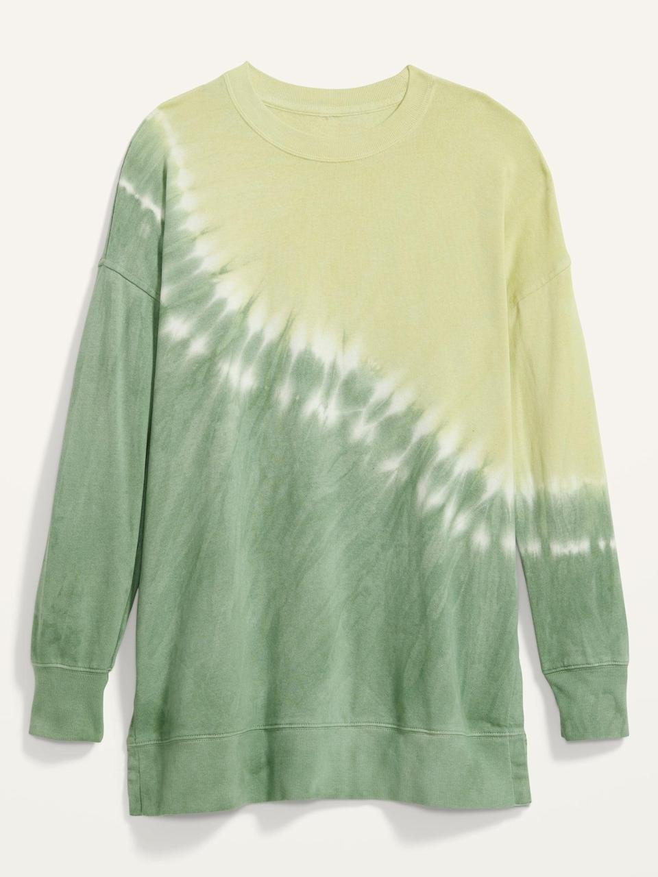 <p>I know I'll be wearing this <span>Oversized Specially Dyed Tunic Sweatshirt</span> ($40) for days.</p>