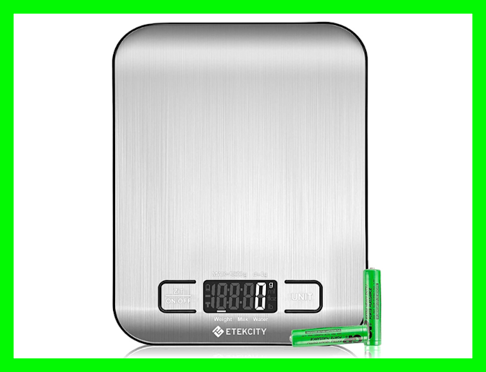 Ounces and pounds and grams, oh my! You can count on this kitchen scale. (Photo: Amazon)