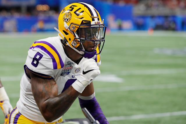 LSU LB Patrick Queen is a tone setter who is still very young. (Photo by Kevin C. Cox/Getty Images)