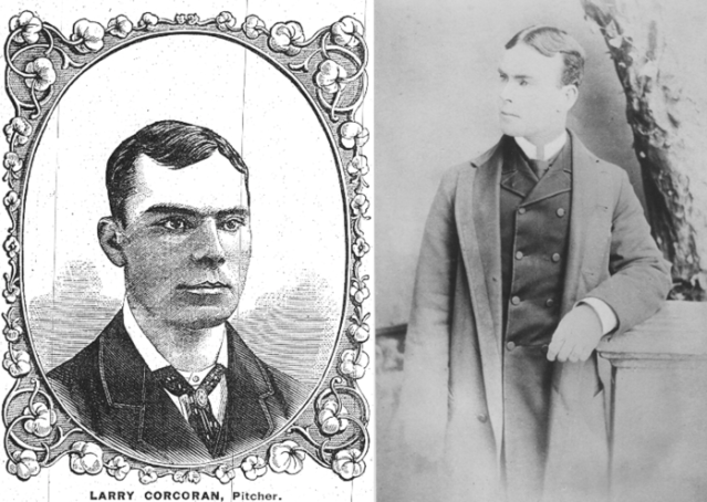 Larry Corcoran was the ace of the Chicago White Stockings in the 1880s. (Photos provided by Penelope Corcoran)