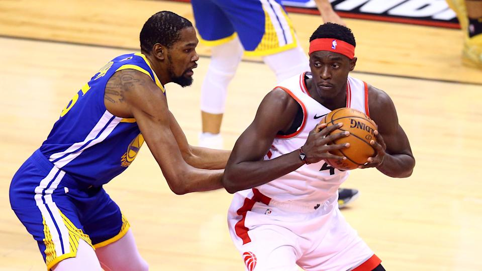 Toronto Raptors forward Pascal Siakam flatly rejected the notion that his team's 2019 NBA Finals victory was a surprise. (Photo by Vaughn Ridley/Getty Images)