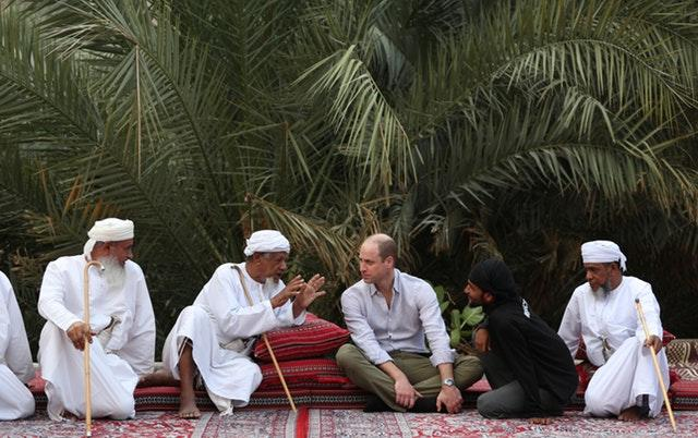 The Duke of Cambridge meeting with village elders