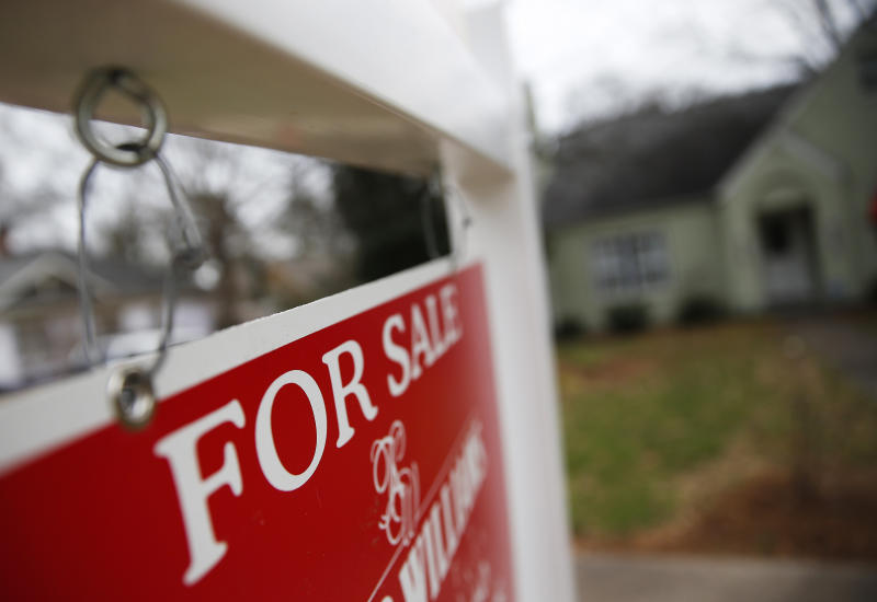 "FILE - This Jan. 26, 2016 file photo shows a ""For Sale"" sign hanging in front of an existing home in Atlanta. Short of savings and burdened by debt, America's millennials are struggling to afford their first homes in the face of sharply higher prices in many of the most desirable cities. Surveys show that most Americans under 35 lack adequate savings for down payments. The result is that many will likely be forced to delay home ownership and to absorb significant debt loads if they do eventually buy. (AP Photo/John Bazemore, File)"