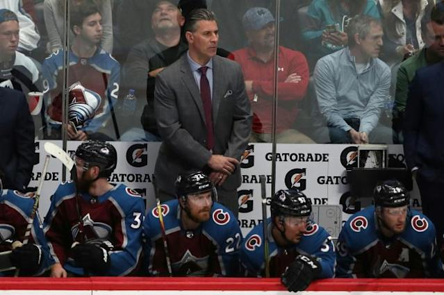 Colorado Avalanche coach Jared Bednar signed a two-year contract extension on Tuesday with the NHL club (AFP Photo/MATTHEW STOCKMAN)