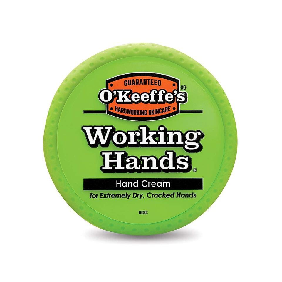 """<p>""""The jar might not look glamorous, but trust me when I say that the <span>O'Keeffe's Working Hands Hand Cream</span> ($9) works better than any other hand cream out there. The thick lotion absorbs into my skin in minutes, is never greasy, and relieves my uncomfortable, painful hands. I'm almost done with the jar that's lasted me most of 2018 and have accepted that it has ruined all fancy hand cream for me for the rest of my life."""" - SS</p>"""