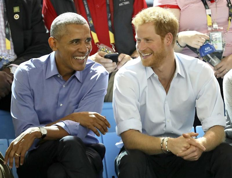 Harry and Obama watching the Invictus Games in Canada in September.