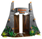 The gates to Jurassic Park measure a towering 42cm high and 48cm wide – and can be unlocked using the trigger-operated gate opening function.