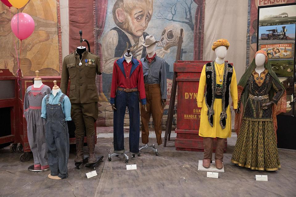 "<p>""The dresses, the crowd costumes, are i'd say 90% real. I used real costumes mixed with reproductions that I made in order to fit modern bodies, because the originals don't fit a lot of people,"" shares Atwood.<br>(Disney) </p>"