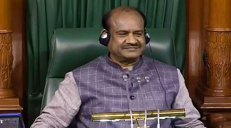 oM bIRLA, lok sabha speaker, lok sabha session, Parliament session, article 370, j&k bill, bifurcation bill, kashmir bifurcation, indian express