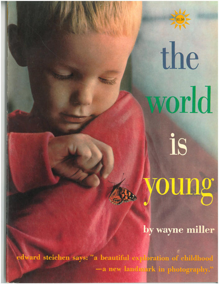 "This undated photo shows the cover of ""The World Is Young,"" a book published in 1958 by renowned American photographer Wayne F. Miller. Miller, who produced some of the most indelible combat images of World War II and created a ground-breaking series of portraits chronicling the lives of black Americans in Chicago, died Wednesday, May 22, 2013 at age 94. Miller served with an elite Navy unit in the Pacific and took some of the first pictures of Hiroshima, Japan, after it was devastated by the first atomic bomb. He returned home to his native Chicago and spent two years on the city's South Side capturing the experiences of black residents. (AP Photo)"
