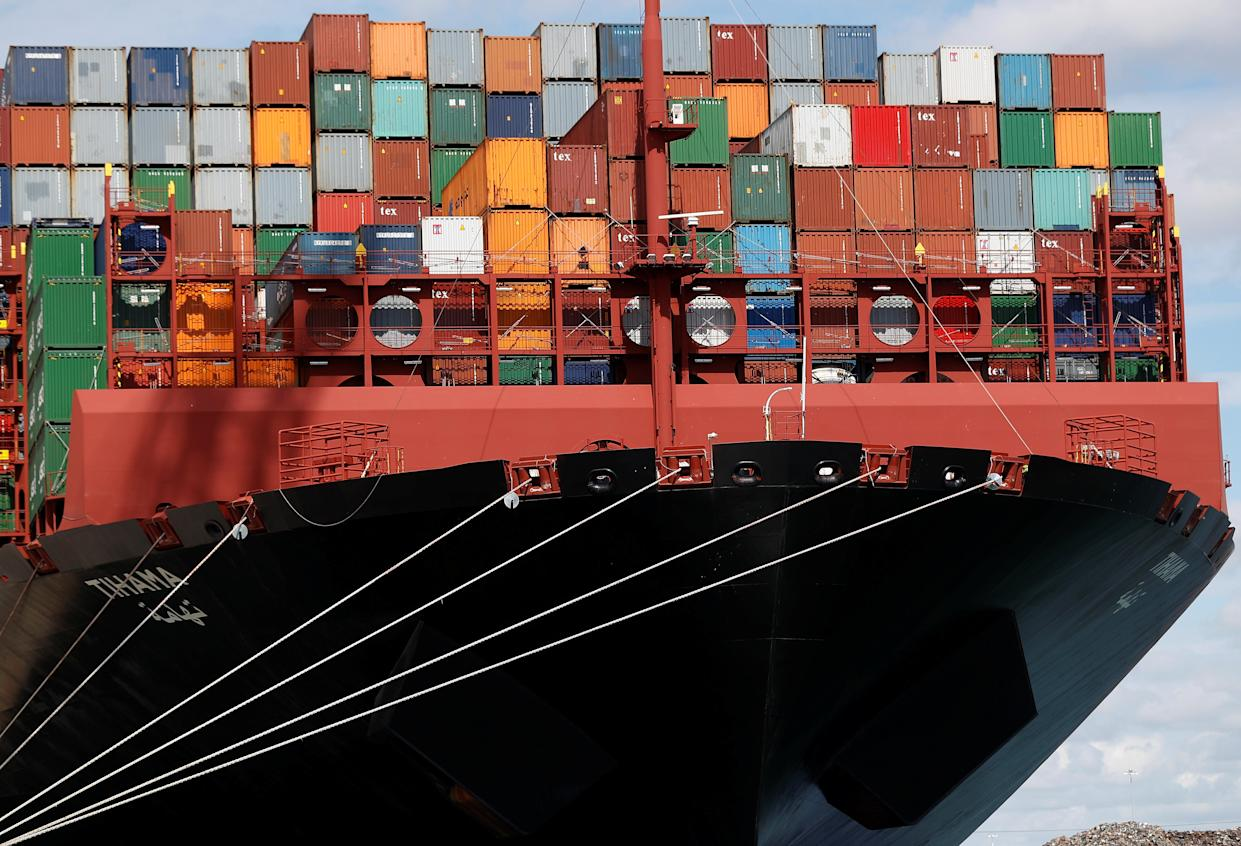 Britain's exit from the European Single Market on 1 January led to new trading rules with the EU that slowed the movement of goods and left some businesses struggling. Photo: Peter Nicholls/Reuters