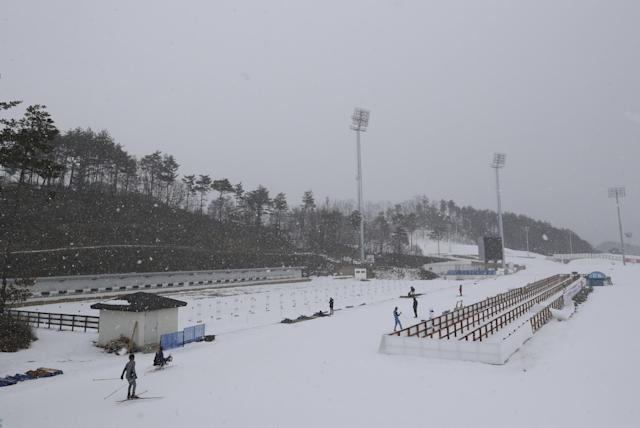 <p>In this Feb. 5, 2017 photo, a general view of the Alpensia Biathlon Centre where is a venue for the Biathlon events for the 2018 Olympic and Paralympic Winter Games in PyeongChang, South Korea. (AP Photo/Lee Jin-man) </p>