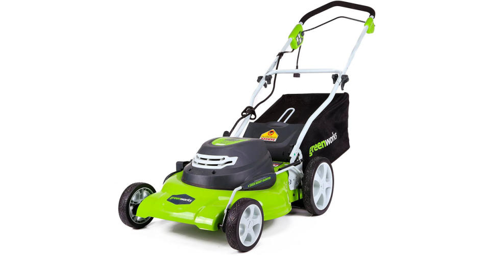 Greenworks 20-Inch 3-in-1 12 Amp Electric Corded Lawn Mower is 41 percent off. (Photo: Amazon)