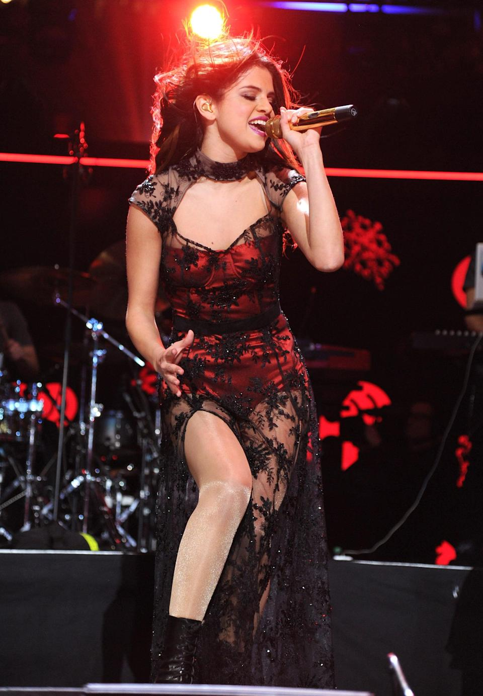 <p>She vamped things up during a performance at Z100's Jingle Ball in NYC.</p>