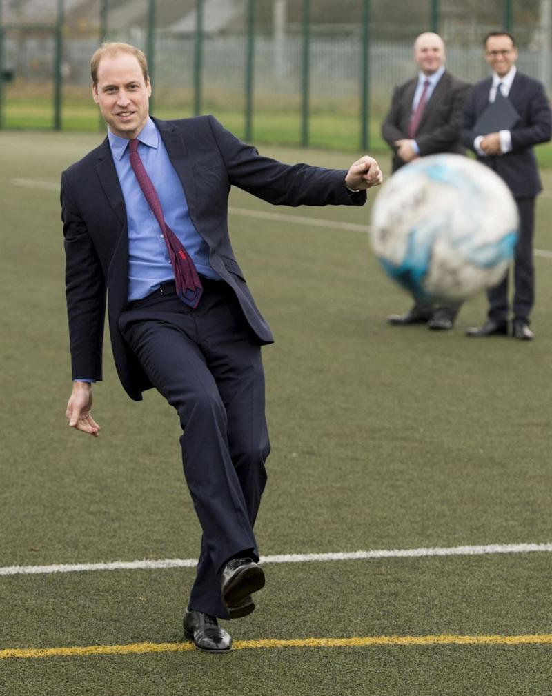 Prince William may love to kick around a ball, but he won't be able to play one board game. Photo: Getty Images
