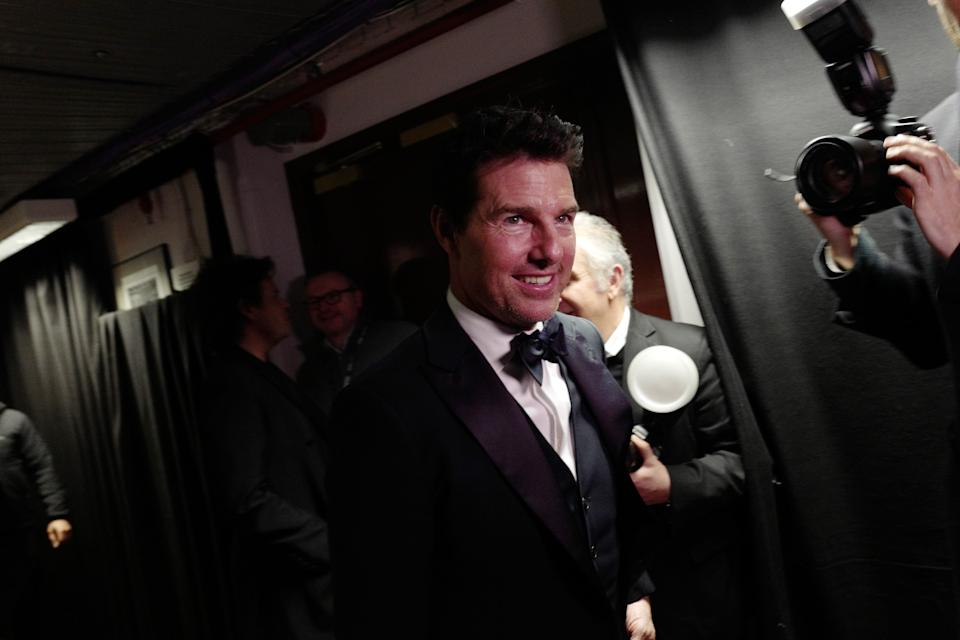 LONDON, ENGLAND - DECEMBER 02: Tom Cruise backstage stage during The Fashion Awards 2019 held at Royal Albert Hall on December 02, 2019 in London, England. (Photo by Gareth Cattermole/BFC/Getty Images)