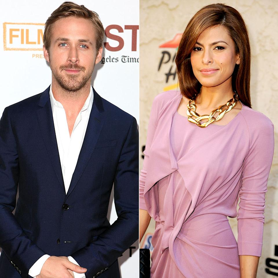 """There's no better place to <a href=""""http://omg.yahoo.com/blogs/jaunt/ryan-gosling-eva-mendes-kiss-hold-hands-at-disneyland/33"""" target=""""new"""">make out</a> than the most magical place on Earth! And that's exactly what Ryan Gosling, 30, and Eva Mendes, 37, did Saturday at Disneyland in Anaheim, California. The actors, who are currently shooting """"A Place in the Pines"""" together, """"have been friends for a long time,"""" a source told <i>Us Weekly</i> """"There's always been this strong chemistry between them ... this was just a matter of time!"""" Chelsea Lauren/WireImage.com, Jeff Kravitz/FilmMagic.com"""