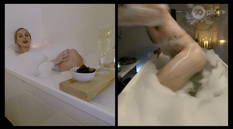 Locky naked in bath Bachelor