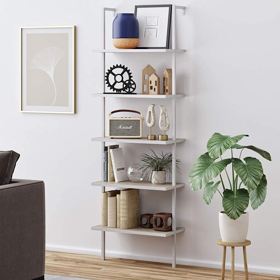 <p>You'll love the clean and minimalist look of this <span>Nathan James Theo 5-Shelf Modern Bookcase</span> ($112) in your living room.</p>