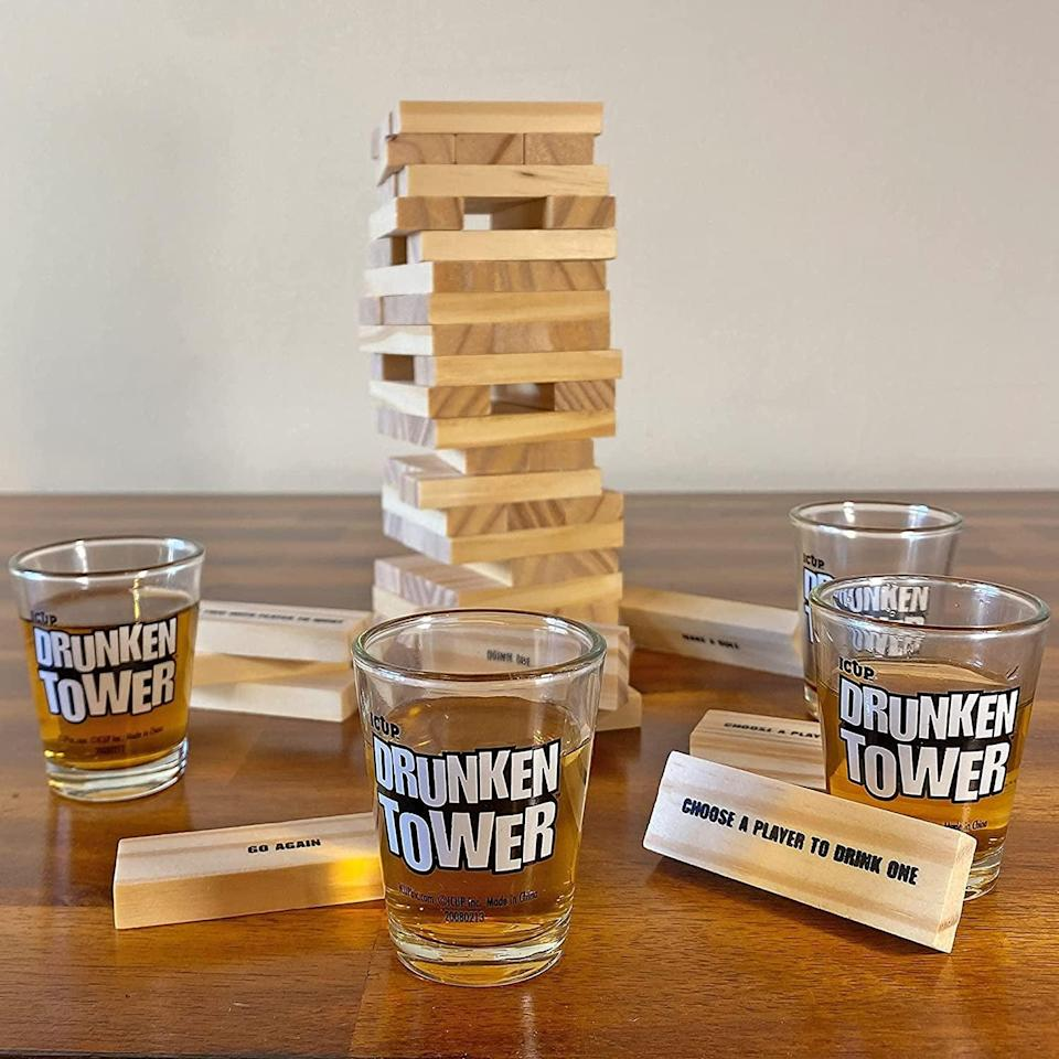 <p>If you know someone who loves entertaining and playing games, give them this <span>ICUP iPartyHard Drunken Tower</span> ($12). Each block has a different drinking-related challenge or game-play instruction.</p>