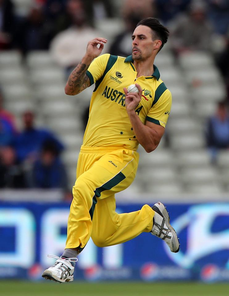 Australia bowler Mitchell Johnson during the ICC Champions Trophy match at Edgbaston, Birmingham.
