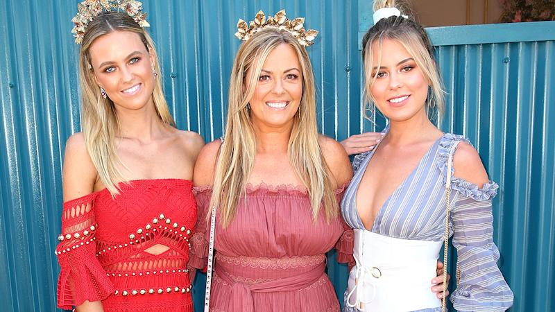Nicky Brownless, pictured here with daughters Lucy and Ruby at Oaks Day in 2017.