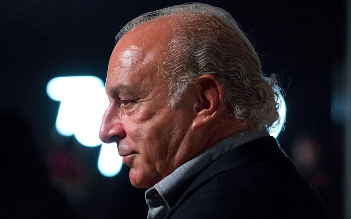 Sir Philip Green faces a series of sexual assault charges, which he denies - PA