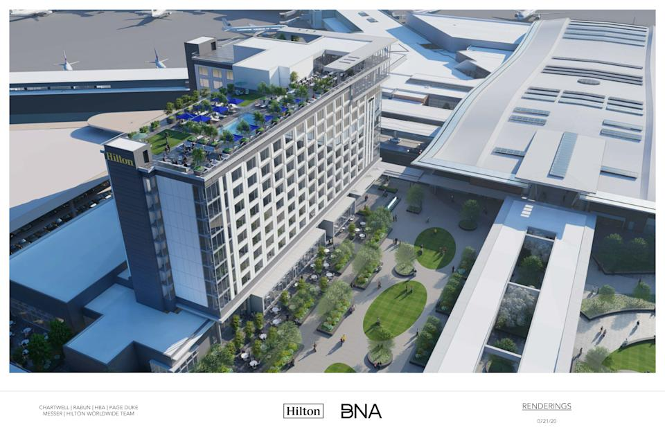 Nashville airport hotel to open in 2023