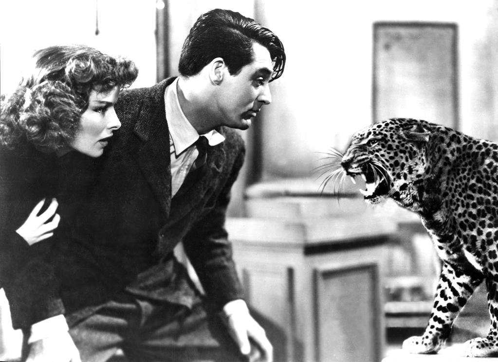 "1938 Howard Hawks's classic screwball comedy ""Bringing Up Baby"" opened on this day. Starring Katherine Hepburn and Cary Grant, the now-beloved film originally lasted only a disappointing two weeks in theaters due to poor box-office sales."