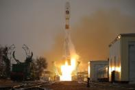 Launch of the Arktika-M satellite for monitoring the climate and environment in the Arctic, at the Baikonur Cosmodrome