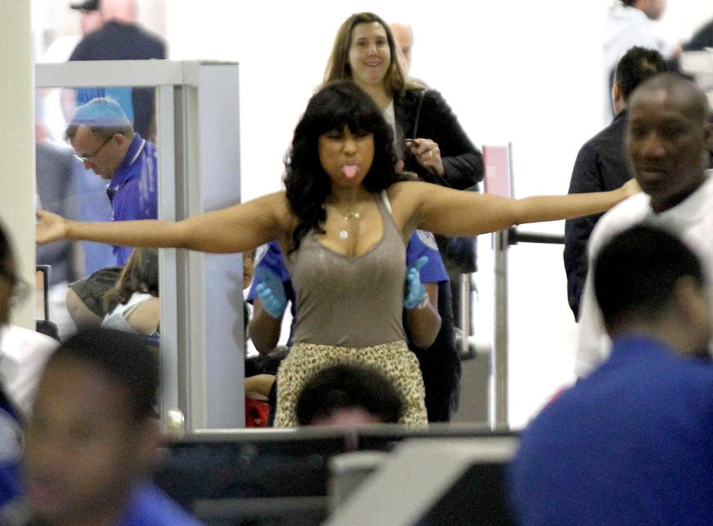 Jennifer Hudson made it clear she wasn't happy about being patted down by a TSA officer as she went through LAX Airport on Tuesday. The 30-year-old singer and Oscar-winning actress stuck out her tongue in a facial expression better suited for her 2-year-old son David. Still, we hear you, J-Hud!
