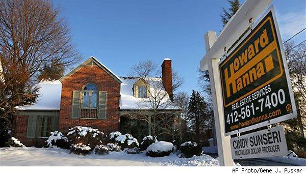 Home prices rise: home for sale sign