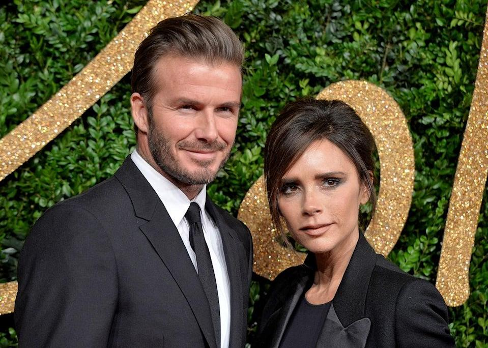 David and Victoria Beckham at the British Fashion Awards in 2015 (Getty Images)