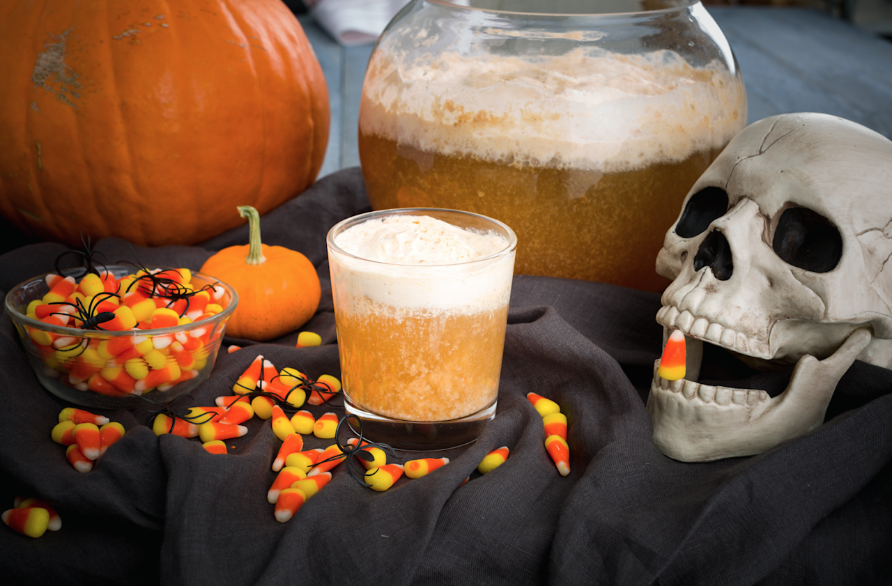 """<p>Is it really Halloween if your punch isn't spiked? Plus, try our <a rel=""""nofollow"""">best Halloween cocktail recipes</a> and <a rel=""""nofollow"""">spooky Jell-o shots</a>!</p>"""