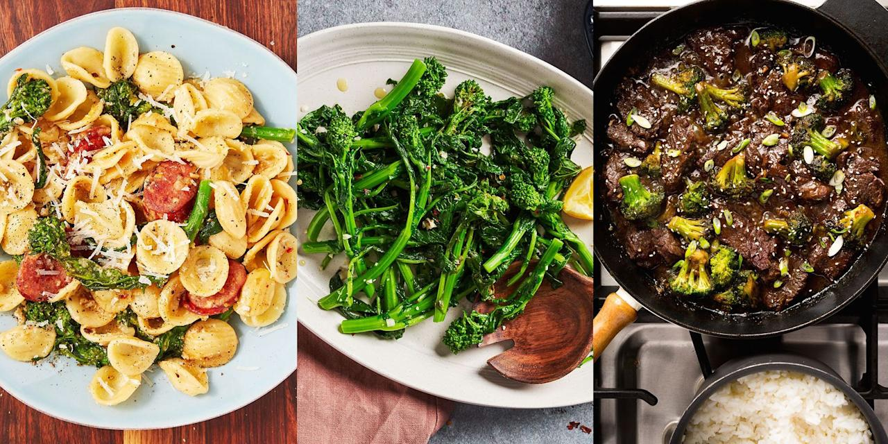 """<p><a href=""""https://www.delish.com/uk/cooking/a29557965/how-to-steam-broccoli/"""" target=""""_blank"""">Broccoli</a> is certainly up there in being one of the best vegetables around. It's super versatile, easy to cook and makes a great tasting side dish. And for that exact reason we've pulled together a delicious selection of our favourite broccoli recipes. Whether that's a side of <a href=""""https://www.delish.com/uk/cooking/recipes/a31802672/cheesy-baked-broccoli-recipe/"""" target=""""_blank"""">Cheesy Baked Broccoli</a> or a main dish of <a href=""""https://www.delish.com/uk/cooking/recipes/a32976946/cauliflower-broccoli-carbonara-recipe/"""" target=""""_blank"""">Cauliflower & Broccoli Carbonara</a> (don't knock it till you've tried it), you have 21 yummy broccoli recipes to choose from.</p>"""
