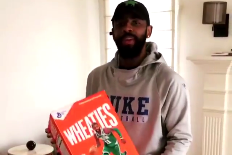 wholesale dealer f771a cb5f1 Kyrie Irving Unveils Nike Kyrie 4 'Wheaties' With Incredible ...