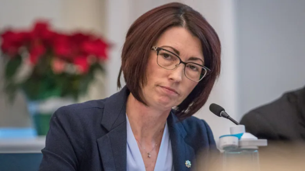 Halifax Auditor General Evangeline Colman-Sadd presented her report into Halifax Fire's inspection program to municipal council Wednesday. (Robert Short/CBC - image credit)