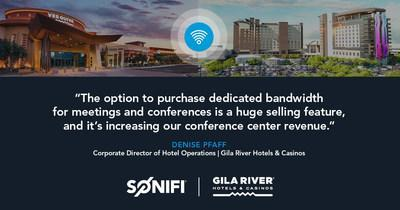 With a strong mixture of guests coming for gaming, leisure and group conferences, Arizona's Four Diamond awarded Gila River Hotels & Casinos is seeing great benefits from technology upgrades made with trusted partner SONIFI Solutions.