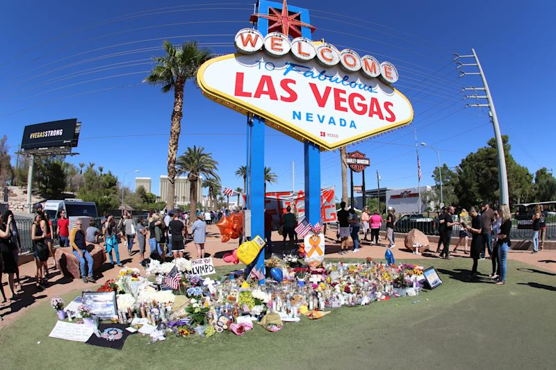 Fifty-eight people died and 851 people were injured whenStephen Craig Paddock opened fire on a crowd of over 20,000 at an outdoor country music concert on the Las Vegas Strip. (Photo: Star Max/IPx)
