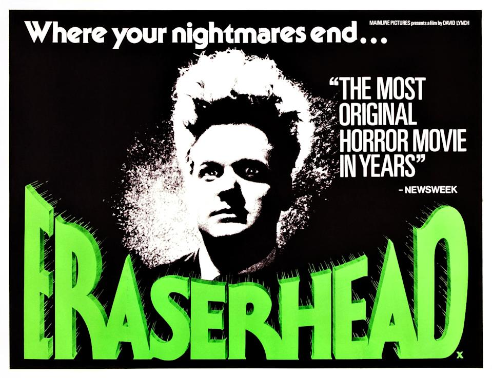 Eraserhead, poster, Jack Nance, 1976. (Photo by LMPC via Getty Images)