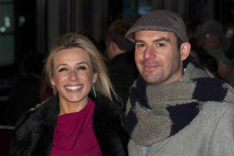 LONDON, UNITED KINGDOM - FEBRUARY 20: Lara Lewington and Martin Lewis attends the UK Premiere of 'Arbitrage' at Odeon West End on February 20, 2013 in London, England. (Photo by Simon Burchell/Getty Images)