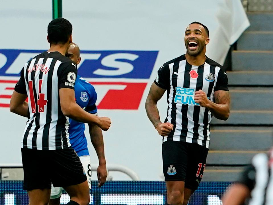 Callum Wilson scored both of Newcastle's goals in their victory over Everton (POOL/AFP via Getty Images)