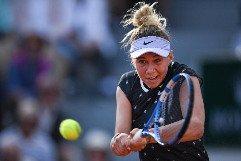 Young American who upset Williams in action at French Open