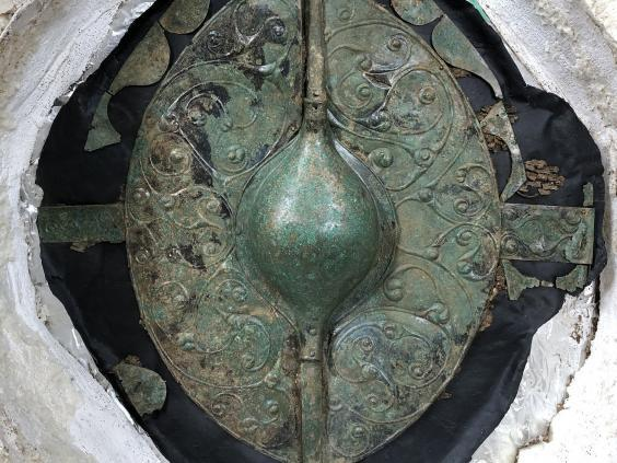"The 2000-year old shield has been hailed as ""the most important British Celtic art object of the millennium"" (SWNS)"
