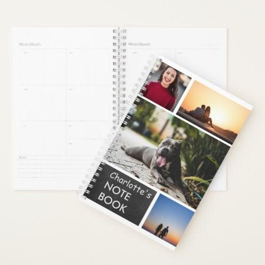"""<h3><a href=""""https://www.zazzle.com/personalized_photo_collage_custom_diy_planner-256281784861705178"""" rel=""""nofollow noopener"""" target=""""_blank"""" data-ylk=""""slk:Personalized Collage Planner"""" class=""""link rapid-noclick-resp"""">Personalized Collage Planner</a></h3><br>It's <a href=""""https://www.refinery29.com/en-us/best-planners"""" rel=""""nofollow noopener"""" target=""""_blank"""" data-ylk=""""slk:planner season"""" class=""""link rapid-noclick-resp"""">planner season</a> — so why not make a splash by gifting one for 2020 with a personalized photo cover? <br><br><strong>Zazzle</strong> Personalized Photo Collage Custom DIY Planner, $, available at <a href=""""https://www.zazzle.com/personalized_photo_collage_custom_diy_planner-256281784861705178"""" rel=""""nofollow noopener"""" target=""""_blank"""" data-ylk=""""slk:Zazzle"""" class=""""link rapid-noclick-resp"""">Zazzle</a>"""