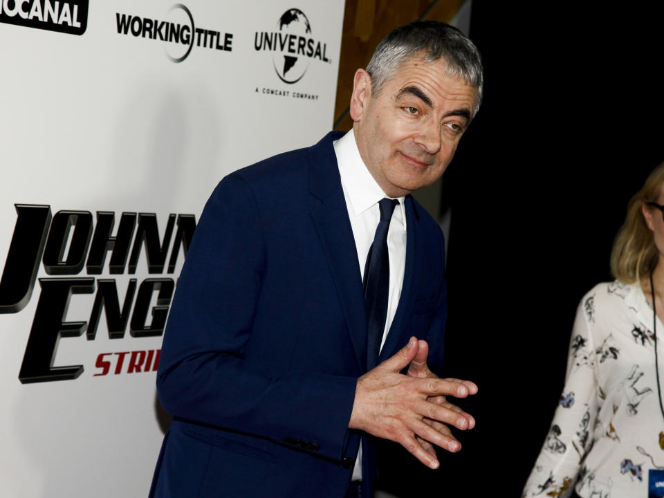 """Rowan Atkinson attends a special screening of """"Johnny English Strikes Again"""" at AMC Loews Lincoln Square on Tuesday, Oct. 23, 2018, in New York. (Photo by Andy Kropa/Invision/AP)"""
