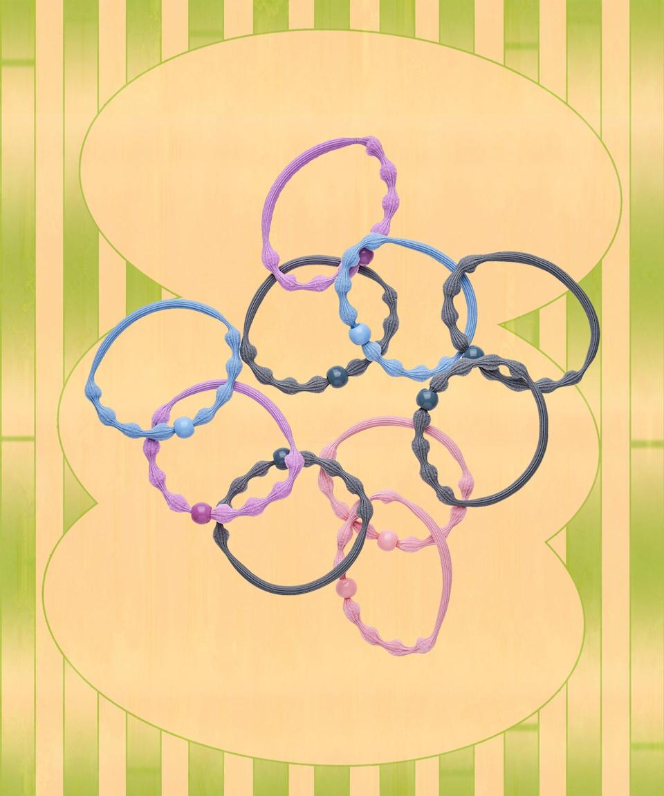 The 16-strand inner core in these Forever Elastics gives your ponytail an extra boost and bounces right back after each use. Plus, the beaded shape prevents snapping for a longer lifespan. They even come in a smaller size for fine hair.